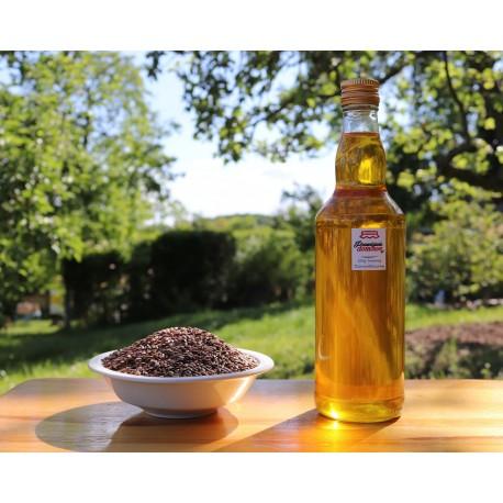 Olej lniany, tłoczony na zimno (Szklana butelka)