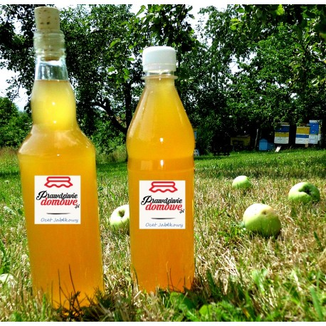 Ocet jabłkowy przwdziwie domowy (Butelka szklana)